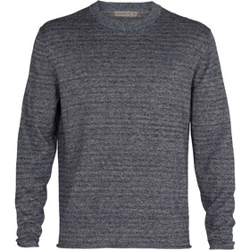Icebreaker Flaxen LS Crew Sweater Men, serene blue heather